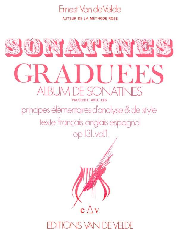 Sonatines Graduées Opus 131 Volume 1 - VAN DE VELDE - laflutedepan.com