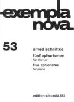 5 Aphorismen SCHNITTKE Partition Piano - laflutedepan