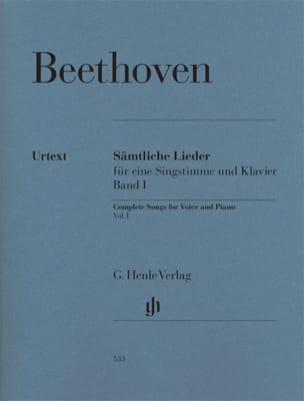 Sämtliche lieder. Volume 1 BEETHOVEN Partition Mélodies - laflutedepan