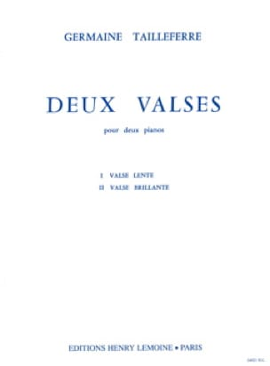 2 Valses pour 2 Pianos - Germaine Tailleferre - laflutedepan.com