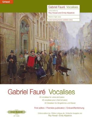 Vocalises. FAURÉ Livre Mélodies - laflutedepan