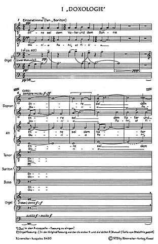 Kleine deutsche Messe (Missa brevissima) 1969 - laflutedepan.com