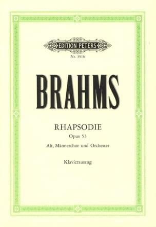 Rhapsodie für Alto Opus 53 - BRAHMS - Partition - laflutedepan.com