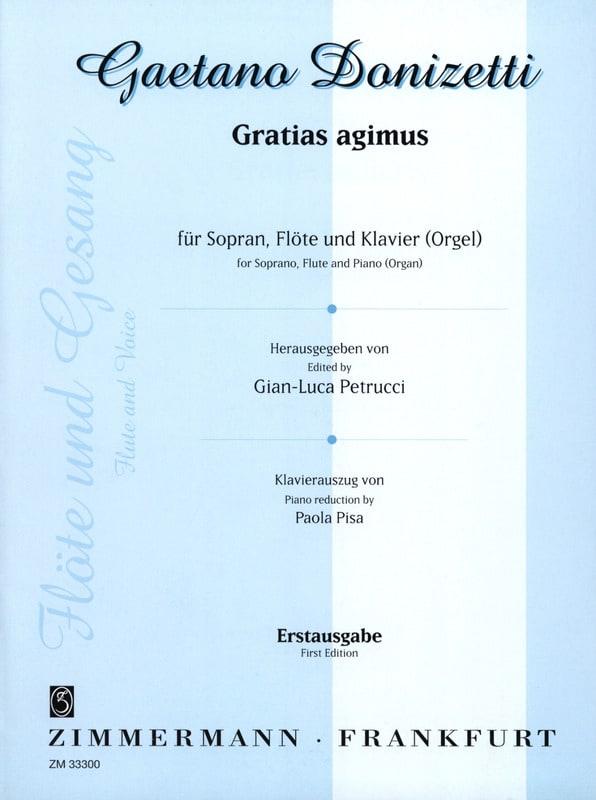 Gratias agimus - DONIZETTI - Partition - laflutedepan.com