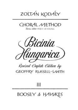 Bicinia Hungarica Volume 3 KODALY Partition Pédagogie - laflutedepan