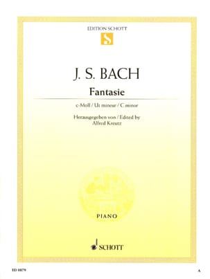 Fantaisie Do Mineur BWV 906 BACH Partition Piano - laflutedepan
