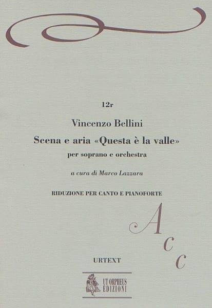 Scena E Aria Questa E la Valle - BELLINI - laflutedepan.com