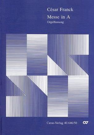 César Franck - Mass In A Orgelfassung Opus 12 - Partition - di-arezzo.co.uk