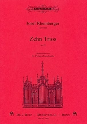 10 Trios Op. 49 - RHEINBERGER - Partition - Orgue - laflutedepan.com