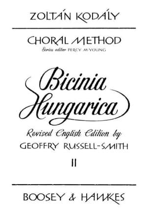 Bicinia Hungarica Volume 2 KODALY Partition Pédagogie - laflutedepan
