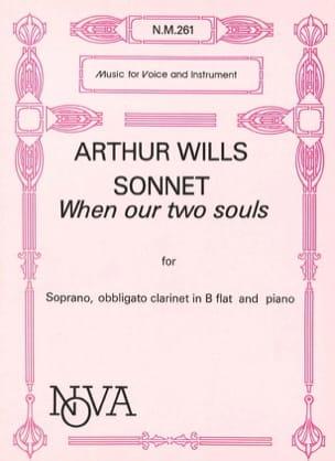 Sonnet When Our 2 Souls Arthur Wills Partition laflutedepan