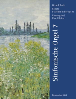 Sonate En Fa Mineur Op. 32 Gerard Bunk Partition Orgue - laflutedepan