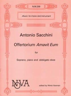 Offertorium Amavit Eum Antonio Sacchini Partition laflutedepan