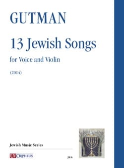 13 Jewish songs Delilah Gutman Partition Violon - laflutedepan