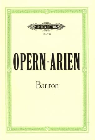 Opern Arien Baryton Partition Opéras - laflutedepan