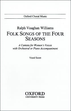 Williams Ralph Vaughan - Folksongs Of The 4 Seasons. - Partition - di-arezzo.com