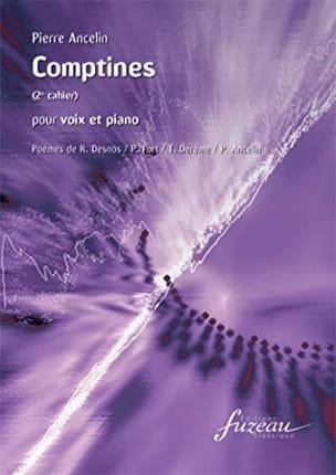Comptines 2° Cahier Pierre Ancelin Partition Mélodies - laflutedepan