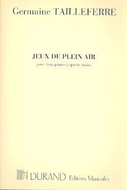 Jeux de Plein Air. 2 Pianos Germaine Tailleferre laflutedepan