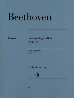 7 Bagatelles Opus 33 BEETHOVEN Partition Piano - laflutedepan