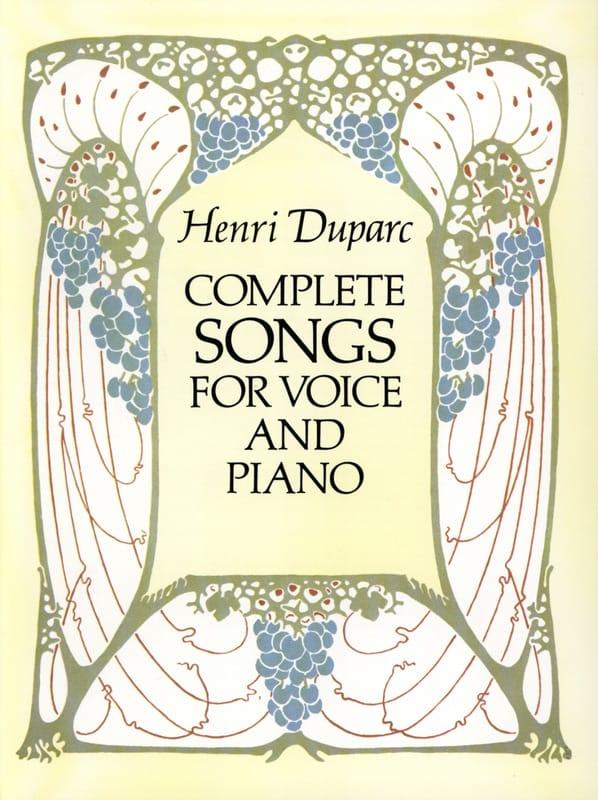 Complete Songs - Henri Duparc - Partition - laflutedepan.com