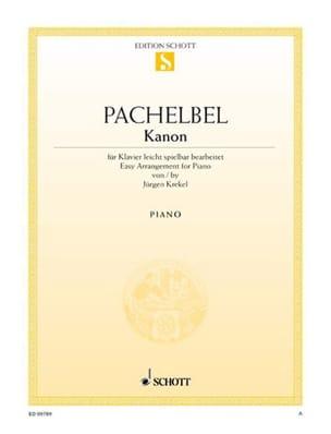 Kanon PACHELBEL Partition Piano - laflutedepan