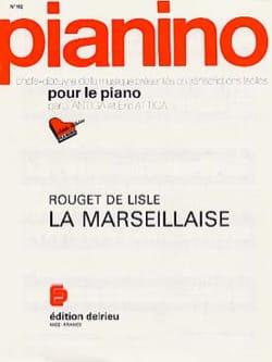 La Marseillaise - Pianino 112 de Lisle Rouget Partition laflutedepan