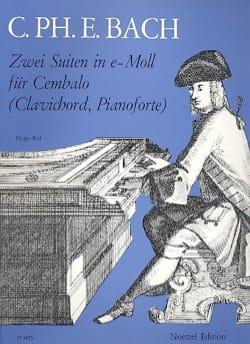 2 Suites En Mi Mineur - Carl-Philipp Emanuel Bach - laflutedepan.com