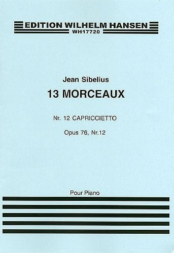 Capriccietto op. 76-12 - SIBELIUS - Partition - laflutedepan.com