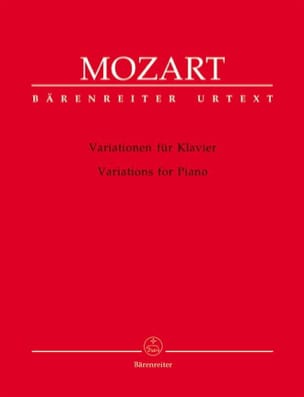 MOZART - Variations For Piano - Partition - di-arezzo.co.uk