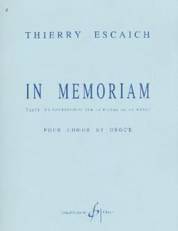 In Memoriam Thierry Escaich Partition Chœur - laflutedepan