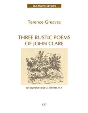 3 Rustics Poems - Terence Greaves - Partition - laflutedepan.com