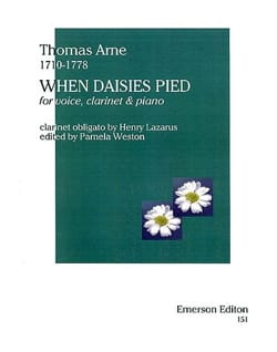 When Daisies Pied Thomas Augustine Arne Partition laflutedepan