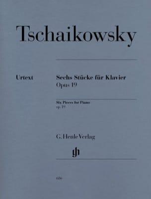6 Pièces Opus 19 TCHAIKOVSKY Partition Piano - laflutedepan