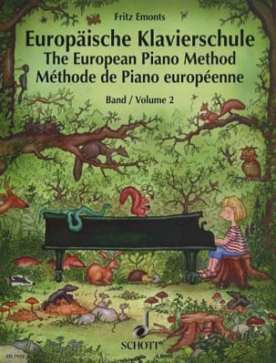Méthode Européenne de Piano Volume 2 Fritz Emonts laflutedepan