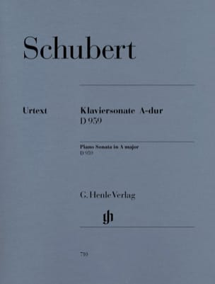 SCHUBERT - Sonata for piano In the Major D 959 - Partition - di-arezzo.co.uk