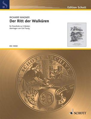 Der Ritt Der Walküren. 4 mains WAGNER Partition Piano - laflutedepan