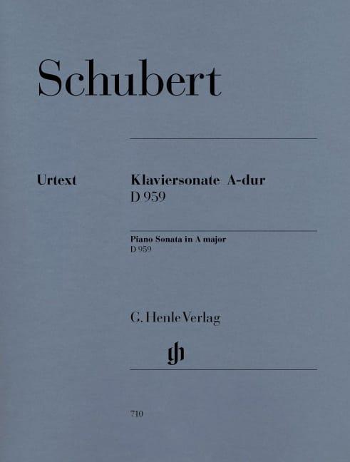 Sonate pour piano En la Majeur D 959 - SCHUBERT - laflutedepan.com