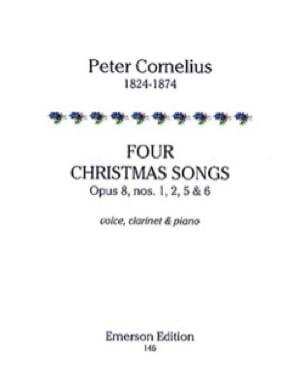 4 Christmas Songs Opus 8 - Peter Cornelius - laflutedepan.com