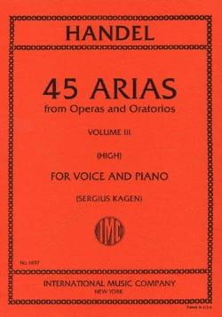 45 Arias Volume 3. Voix Haute HAENDEL Partition laflutedepan