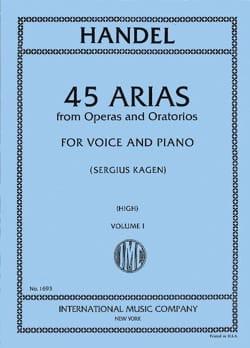 45 Arias Volume 1. Voix Haute HAENDEL Partition Opéras - laflutedepan