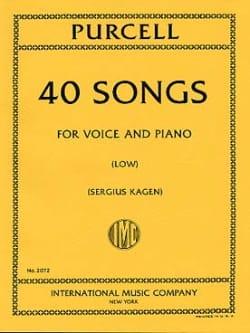 40 Songs. Voix Grave PURCELL Partition Mélodies - laflutedepan
