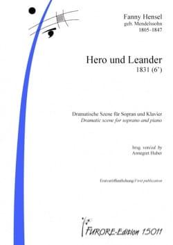 Hero und Leander Fanny Hensel-Mendelssohn Partition laflutedepan