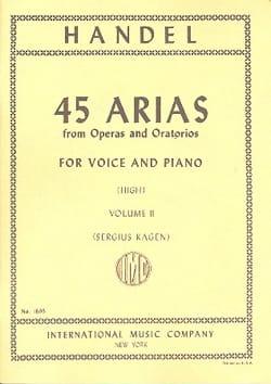 45 Arias Volume 2. Voix Haute HAENDEL Partition Opéras - laflutedepan