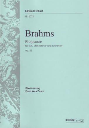 Rhapsodie Für Alto Opus 53 BRAHMS Partition Chœur - laflutedepan