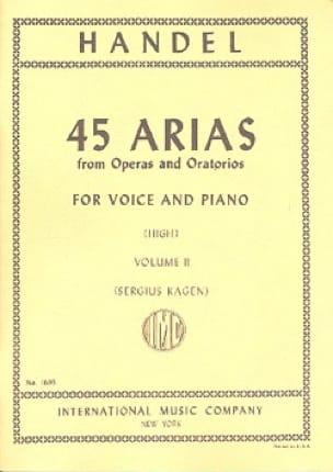 45 Arias Volume 2. Voix Haute - HAENDEL - Partition - laflutedepan.com