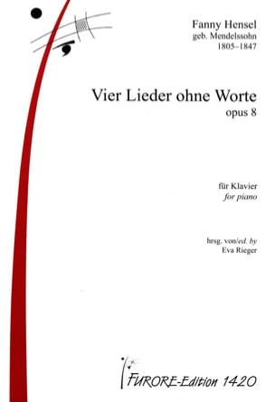 4 Lieder Ohne Worte Opus 8 Fanny Hensel-Mendelssohn laflutedepan