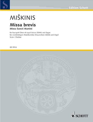 Missa Brevis Vytautas Miskinis Partition Chœur - laflutedepan