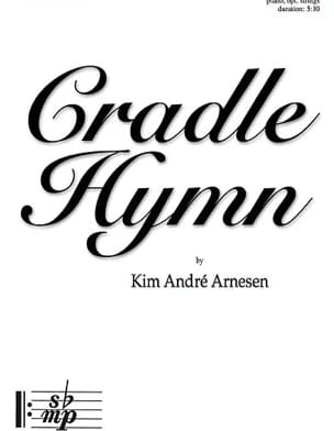 Cradle Hymn. SSAA Kim André Arnesen Partition Chœur - laflutedepan