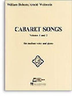 Cabaret Songs Volumes 1 et 2 William Bolcom Partition laflutedepan