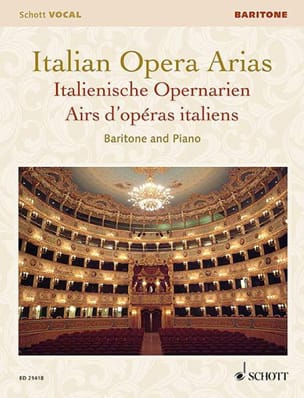 Airs d'Opéras italiens. Baryton - Partition - laflutedepan.com